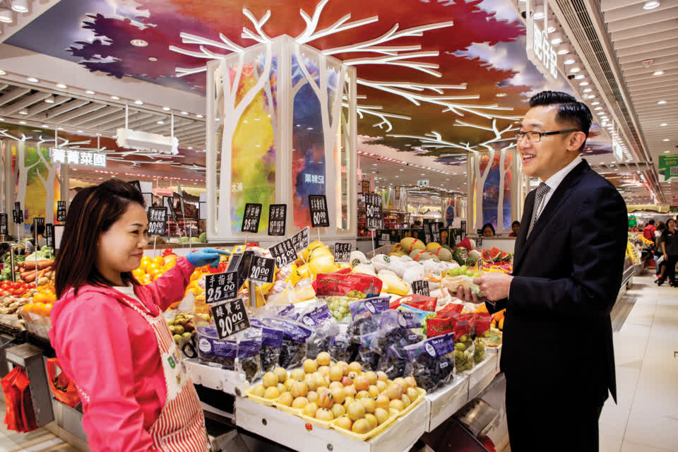 CEO of Uni-China, 凌偉業, learnt his trade in the fresh food business.